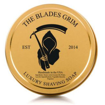 The Blades Grim Gold Luxury Shaving Soap - Sinmint 4oz