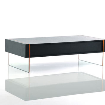 Modrest Vision - Modern Black Oak Floating Coffee Table