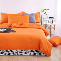 Bedding set Brief style bed linens 5 size zebra-stripe bed sheet Microfiber brushed bed set bedding
