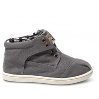 TOMS Shoes Ash Canvas Kids' Tiny Botas Ankle Boots,