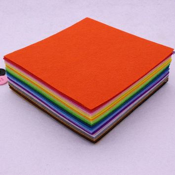 Square 40 Color Felt Cloth 1MM Felt Fabric Polyester Fabrics Needlework Diy Needle Sewing Handmade Fieltro Feltro