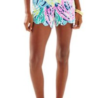 "5"" Buttercup Scallop Hem Short - Let's Cha Cha - Lilly Pulitzer"