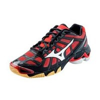 Mizuno Wave Lightning RX2 Women's Volleyball Shoe- Black/Red- 1st Place Volleyball