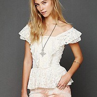 Free People  Love And Lace Top at Free People Clothing Boutique