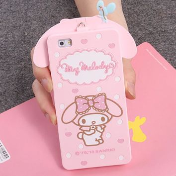 For Huawei Ascend G7 C199 P8 P8 Lite P9 Cover Cute 3D Hello kitty My Melody Bow Cartoon Capa Soft Silicone Phone Case