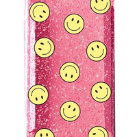 SMILEY PINK glitter iPhone 6/6s case