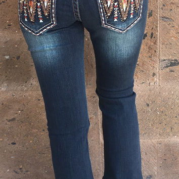 GRACE IN L.A. MOUNTAIN TOP BOOTCUT JEANS