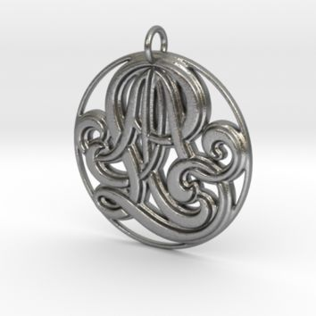 Monogram Initials AAL Pendant by CalicoFlair on Shapeways