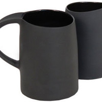 ripple porcelain mugs - charcoal - ABC Carpet & Home