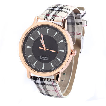 Women Fashiom Lattice  Check Watch