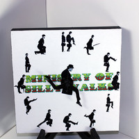 Monty Python Ministry of Silly Walks Clock 8x8 in by NerDecor