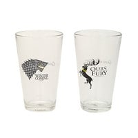 Game of Thrones Stark & Baratheon Pint Glass Set | Hot Topic