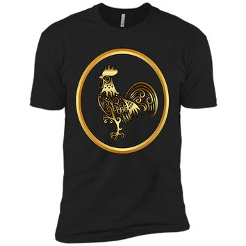 Attractive Golden Rooster Decoration 2017 T Shirt