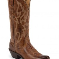 Nocona Brown Leather Cowgirl Boots - Snip Toe - Sheplers