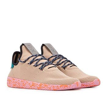 adidas Mens PW Tennis Human Race Brown/Pink Fabric