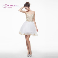 Wowbridal White/Red/Navy/Blue Short Homecoming Dresses New Lace Up Back Junior High 8th Grade Graduation Dresses SH0019