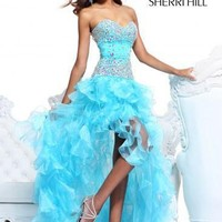 Discount Sherri Hill 21104 Prom Dresses / Pageant Dress Light Blue Size 2  NWT