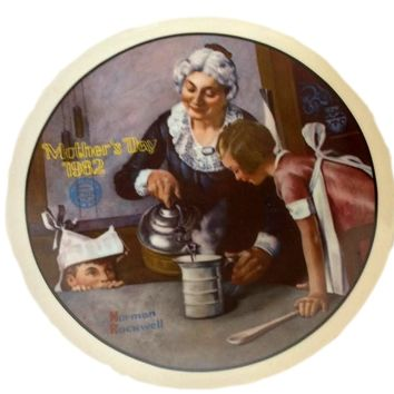 Vintage Norman Rockwell 1982 MOTHER'S DAY Plate
