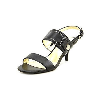 Tommy Hilfiger Alexia Womens Size 9 Black Leather Slingback Sandals Shoes