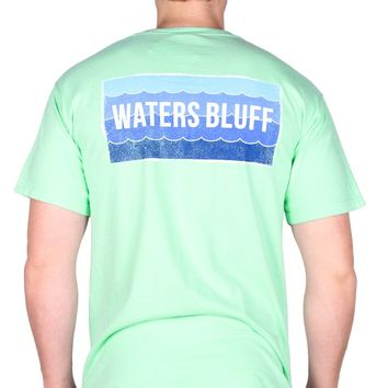 Wave Tee Shirt in Island Reef Green by Waters Bluff