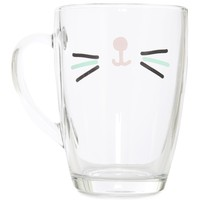 Gabriella Cat Face Glass Mug