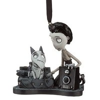 "Disney / Tim Burton Frankenweenie Christmas Holiday Ornament "" Sparky and Victor "" It Lights up !!! 4 Inches Long 4 Inches Tall"