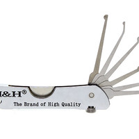 6-in-1 Pocket Size Folding Lock Pick Set