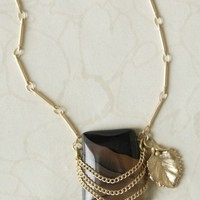 natural treasures necklace in charcoal at ShopRuche.com