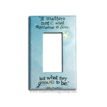 Grow To Be - Wizard Inspired Rocker Style Switch Plate