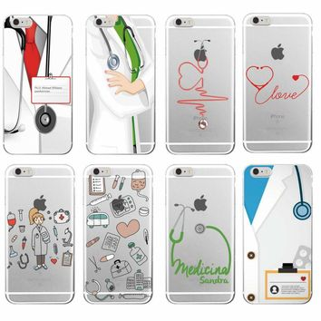 Nurse Medical Medicine Health Heart Soft TPU Phone Case Cover Coque Fundas For iPhone 7 7Plus 6 6S 6Plus 5 5S SE 8 8Plus X