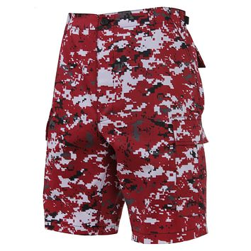 Rothco BDU Digital Red Camo Shorts
