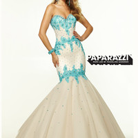 Sweetheart Beaded Lace Mermaid Paparazzi Prom Dress By Mori Lee 97025
