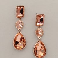 Sparkling Rose Gold Earrings