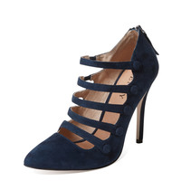 Renvy Women's Harlem Multi-Strap Pump - Dark Blue/Navy -