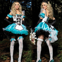 Halloween Alice Wonderland Costumes Plus Size Lingerie Cosplay Costume