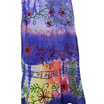 Bohemian Wrap Skirt Purple Tie Dye Wrap around Indian Long Skirts, Gift for Her: Amazon.ca: Clothing & Accessories