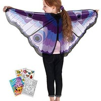 Douglas Toys Dreamy Dress-Ups 50562 Purple Butterfly Wings with Coloring Book