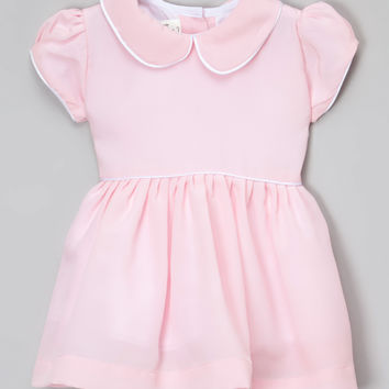 Light Pink Peter Pan Collar Dress - Infant, Toddler & Girls