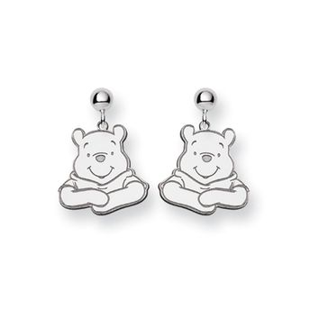 Disney's Winnie the Pooh Silhouette Post Earrings in Sterling Silver