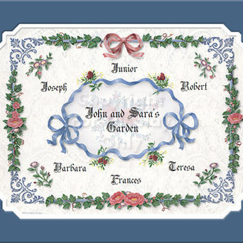 Mom and Dad's Family Tree Personalized Gift Remembrance and Keepsake
