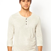 River Island Long Sleeve Henley Top