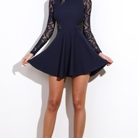 Chariot Dress Navy