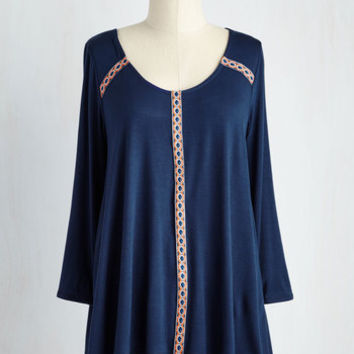 Mid-length Long Sleeve Moved By Moonlight Top