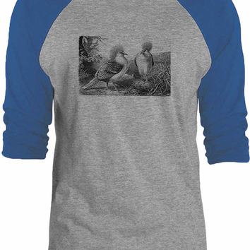 Big Texas Western Crowned Pigeon 3/4-Sleeve Raglan Baseball T-Shirt