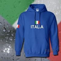 Italy Italia hoodie men sweatshirt polo sweat new hip hop streetwear footballer jersey cotton tracksuit nation Italian flag ITA