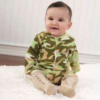 Baby Camo Two Piece Layette Set in Gift Box