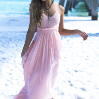 In A Sunshine State Of Mind Mauve Crochet Maxi Dress