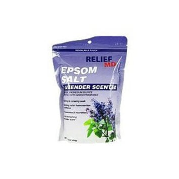 Lavender Epsom Salt Light Scented Calming Relaxing Soak Relief MD 2 Lbs (2 1 Pound Bags)