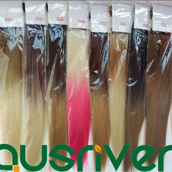 9Colours 60CM Long Straight Heat Resistant Women Wig Hair Piece Extension