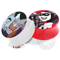Joker - Harley Quinn V2 White/Red - Acrylic - Image Plugs - COLLECTORS - 1/100